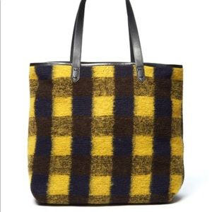 Kelsi Dagger Brooklyn Plaid Wool Tote Bag NWOT